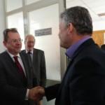 Ambasadorul Canadei, Philippe Beaulne, a efectuat astăzi o vizită la Alba Iulia