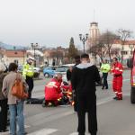 În această dimineață o femeie a fost accidentată chiar pe trecerea de pietoni din fața sediului Poliției Alba