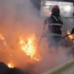 Incendiu la un depozit de furaje din apropierea fermelor Avicola de la Pâclișa