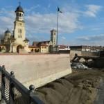 Până la Paști ar putea fi redeschisă zona pietonală din fața Catedralei Ortodoxe din Alba Iulia