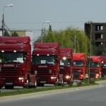 Peste 150 de camioane au paralizat traficul din Alba Iulia ca urmare a protestului transportatorilor