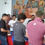 50 de persoane fară adăpost din Alba Iulia au primit o masă de Paşte