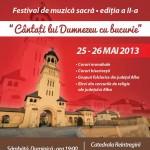 """În 25 și 26 mai se va desfășura la Alba Iulia Festivalul de Muzică Sacră """"Cântaţi lui Dumnezeu cu bucurie"""""""
