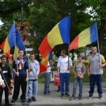 """Asociaţia """"Realitate şi Adevăr"""" a organizat astăzi un miting împotriva noii steme a județului Alba"""