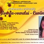 Cafeneaua Culturală din Alba Iulia va găzdui joi un dublu eveniment: Lansarea cărţii Marinei Almăşan şi aniversarea artiştilor din Alba