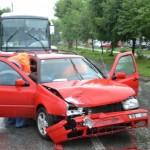O persoană a fost rănită în urma unui accident rutier ce a avut loc pe strada Octavian Goga din Alba Iulia