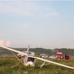 Un avion de agrement de mici dimensiuni a aterizat forțat la Teleac
