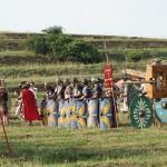 Spectacol pe cinste oferit de daci și romani la Festivalul Cetăților Dacice de la Cricău