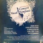 """În 28 octombrie, la Casa de Cultură a Sindicatelor din Alba Iulia va avea loc un concert vocal simfonic susţinut de corul şi orchestra """"Sanctus Pro Deo"""""""