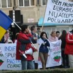 Un nou marș de protest împotriva proiectului minier de la Roșia Montană a avut loc astăzi la Alba Iulia