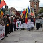 Peste 100 de persoane au protestat la Alba Iulia împotriva proiectului privind Roșia Montană