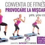 """Vineri, 11 octombrie, la Alba Mall va avea loc Convenţia de Fitness """"PROVOCARE LA MISCARE"""""""