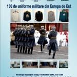Începând de mâine, la Muzeul Naţional al Unirii din Alba Iulia, vor fi expuse 130 de uniforme militare din Europa de Est