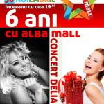 Alba Mall sărbătoreşte sâmbătă 6 ani de existenţă: Concert Delia, tombolă cu premii consistente şi alte surprize