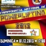 Campionatul Naţional de Powerlifting, proba împins din culcat se va desfășura de 1 decembrie la Alba Mall
