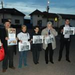 Astăzi în fața DIICOT Alba Iulia a fost organizat un protest împotriva arestării fostului comisar şef Traian Berbeceanu