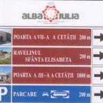 În Alba Iulia se vor instala indicatoare rutiere de informare la intrările în municipiu, intersecții și parcări