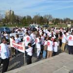 Zeci de persoane au protestat pe străzile din Alba Iulia împotriva avortului