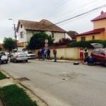 Trei autoturisme avariate după o coliziune într-o intersecție din Alba Iulia