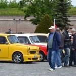 Iubitorii mașinilor Trabant si-au dat întâlnire astăzi la Alba Iulia