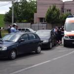 Un biciclist a fost acroșat de un autoturism în sensul giratoriu de pe Calea Moților din Alba Iulia