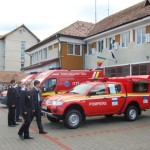 ISU Alba a primit 3 ambulanţe şi 4 autospeciale noi