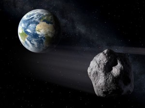 asteroid-and-earth