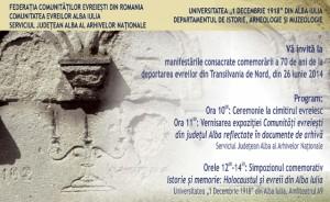 comemorare-deportare-evrei-Alba-Iulia