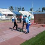 Antrenament de pregătire a pompierilor desfășurat pe Stadionul Cetate din Alba Iulia