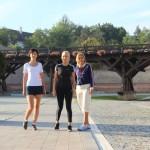 Elena Udrea a făcut jogging în Cetatea Alba Carolina