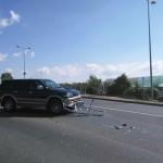 O femeie rănită după o coliziune între două autoturisme pe str. Regimentul V Vânători din Alba Iulia