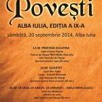 Trei spectacole în prefața Festivalului Internațional de teatru Povești de la Alba Iulia