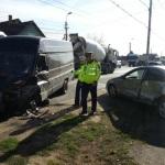 Coliziune între 3 autovehicule în cartierul Partoș din Alba Iulia
