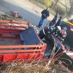 Un autoturism Dacia distrus și două persoane rănite în urma unui accident rutier petrecut în apropiere de Pîclișa