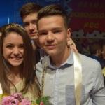"""Luiza Negru și Robert Oprea sunt noii Miss și Mister Boboc ai Colegiului """"HCC"""" din Alba Iulia"""