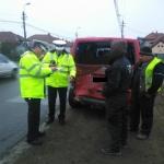 Accident rutier soldat cu pagube materiale pe pasarela de la Partoș