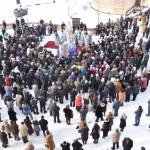 ÎPS Irineu împreună cu 9 preoți și diaconi au oficiat slujba de sfințire a apei de Bobotează