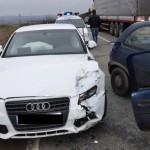 Carambol cu trei autovehicule pe șoseaua de centură a municipiului Alba Iulia, după ce un șofer a ignorat regula de prioritate