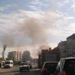 Camion în flăcări pe Calea Moţilor din Alba Iulia