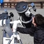 Sesiune de observații astronomice pe esplanada Obeliscului din Cetate, prilejuită de eclipsa parțială de Soare
