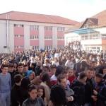 """ISU Alba a organizat astăzi un exercițiu de evacuare a elevilor în caz de cutremur la Colegiul Tehnic ,,Apulum"""" Alba Iulia"""