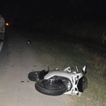 Un motociclist a ajuns în comă la spital, după ce a intrat în coliziune cu un T.I.R. la ieșirea din Alba Iulia înspre Sebeș