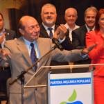 """Traian Băsescu, la Alba Iulia: """"Din toamnă nu voi fi doar partenerul vostru, ci mă voi înscrie în partid"""""""