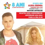 Concert Alina Eremia, concursuri și reduceri aniversare la 8 ani de Alba Mall