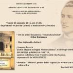 Ziua Națională a Culturii, marcată la Alba Iulia printr-un eveniment organizat la Casa de Cultură a Sindicatelor