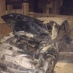 Autoturism mistuit de flăcări pe strada Lucian Blaga din Alba Iulia