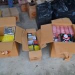 Nu mai puțin de 1.560 de articole pirotehnice confiscate de polițilști de la un comerciant care le comercializa în Talciocul din Alba Iulia