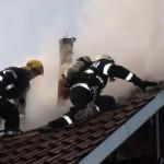 Incendiu produs la coșul de fum al unui imobil situat pe strada Bucurețti, din Alba Iulia