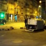 """Sensul giratoriu din zona Pieței """"Cetate"""" din Alba Iulia a fost parțial distrus în urma unui accident rutier"""