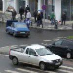 Două autovehicule s-au ciocnit în sensul giratoriul din centrul municipiului Alba Iulia